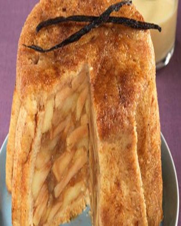 Charlotte de pain de mie aux pommes
