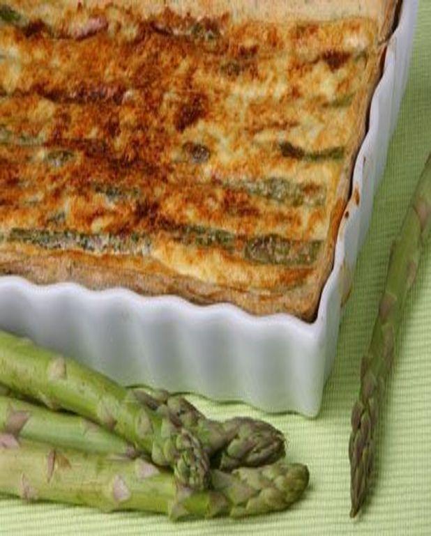 Clafoutis aux asperges vertes