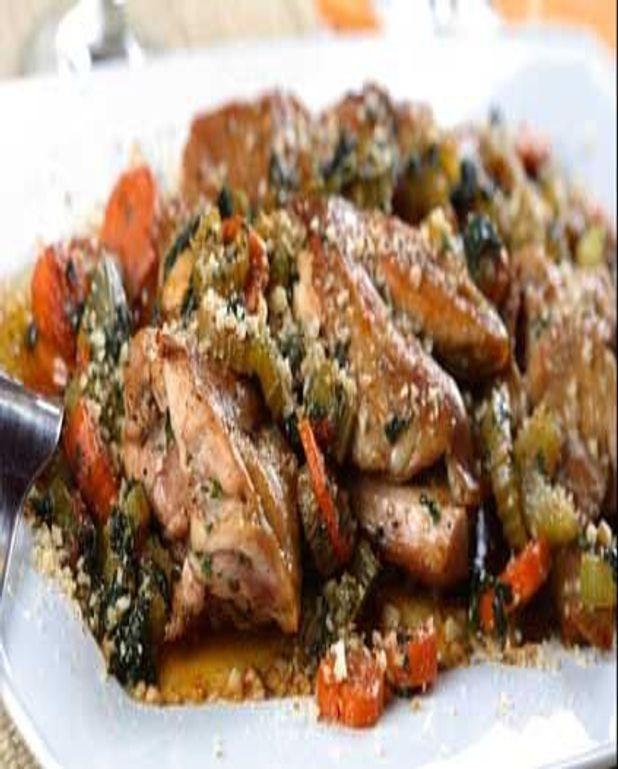 Cocotte de lapin mijoté aux aromates provençaux