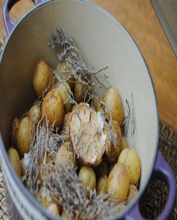 Cocottes de primeurs de Noirmoutier au sel gris