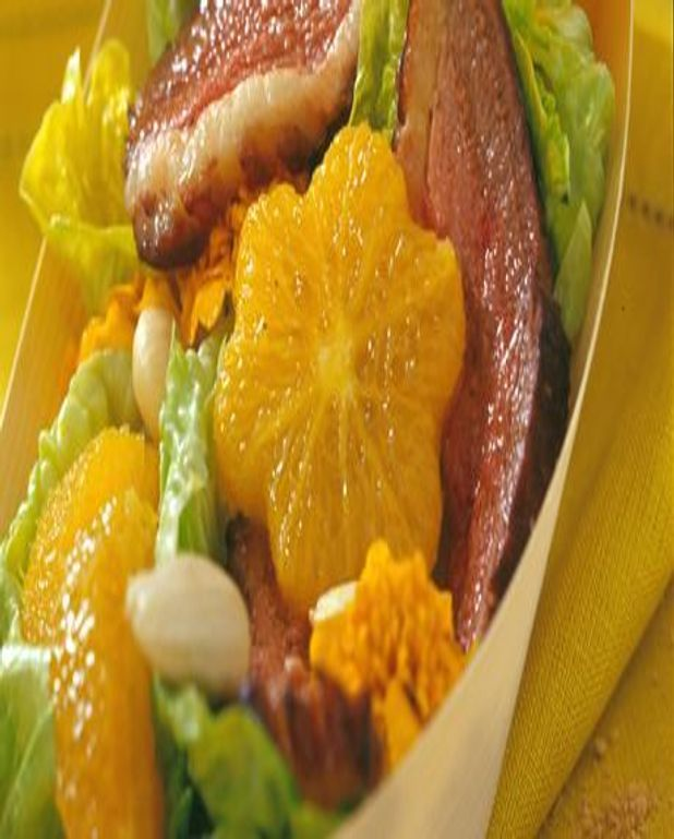 Coupelle fraîcheur salade - orange - magret