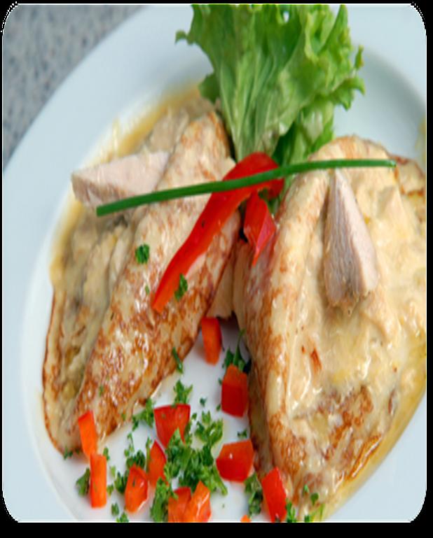 Crêpes célestines farcies de poulet