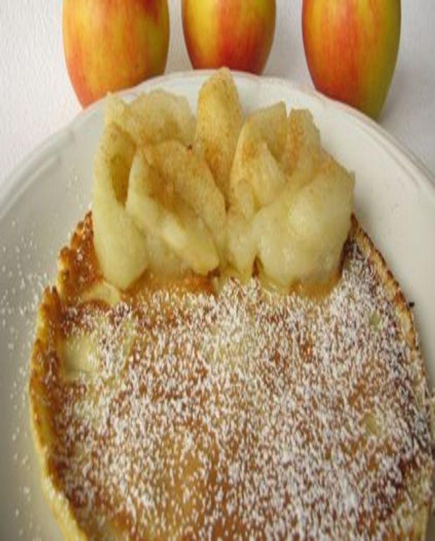 Crêpes fourrées aux pommes golden