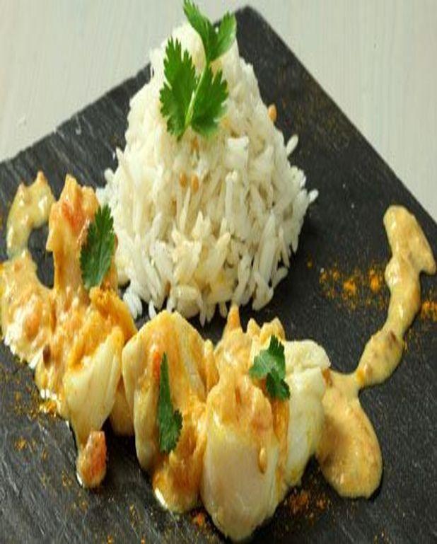 Curry de poisson et riz basmati, gingembre et citronnelle