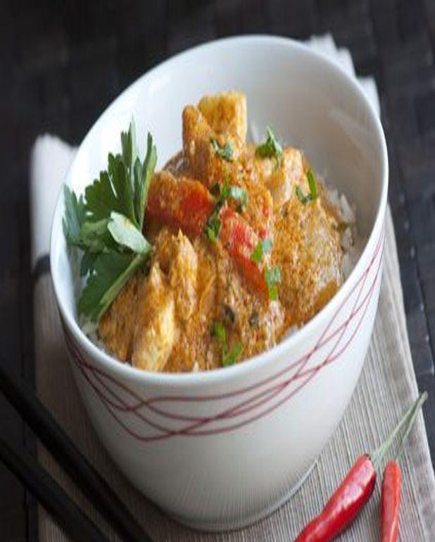 Curry de poulet coco abricots