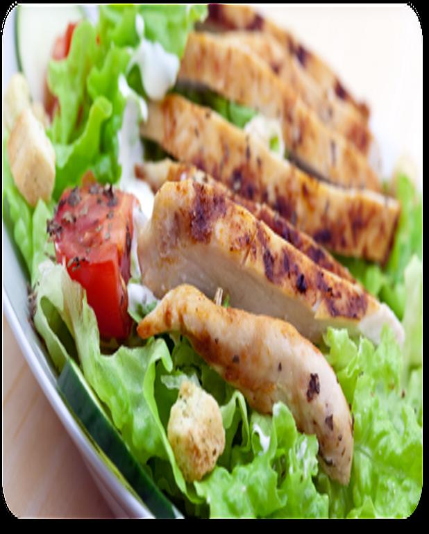 Effilochée de poulet en salade
