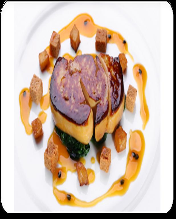 Escalope de foie gras de canard poêlée au coulis de coing