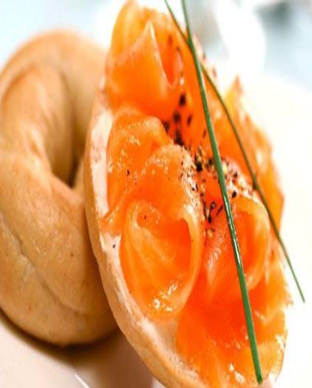 Escalopes de saumon cru aux ciboulettes