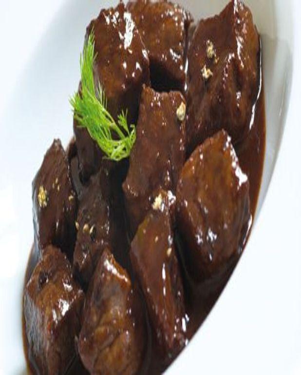 Estouffade de boeuf Salers au Sancerre rouge et chocolat noir