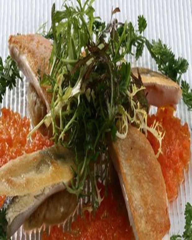 Filets de Rougets et Sardines poêlés en tartines