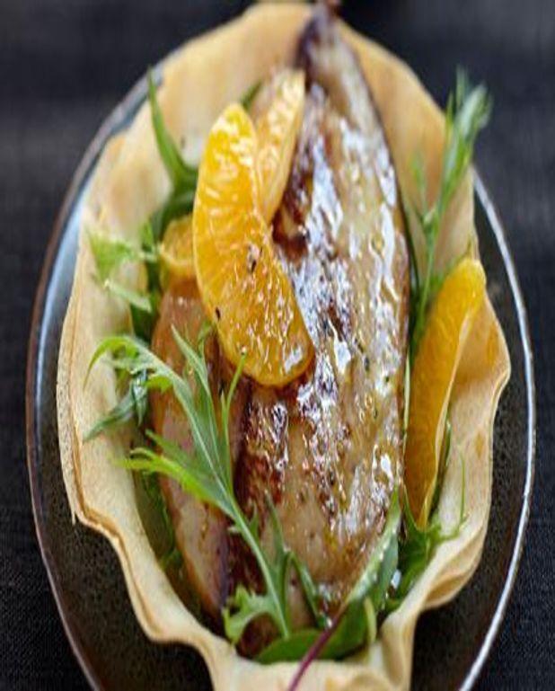 Foie gras de Canard des Landes chaud aux clémentines
