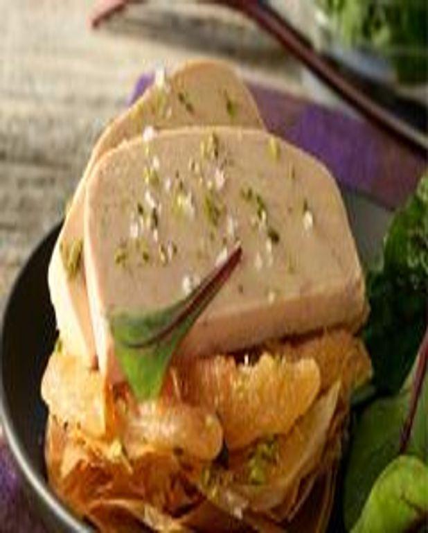 Foie Gras de canard en tarte fine