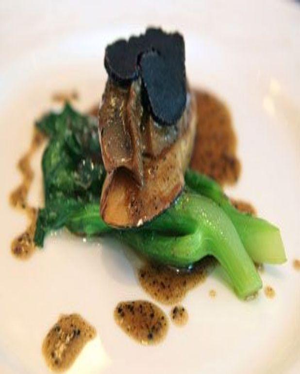 Foie gras de canard rôti aux truffes