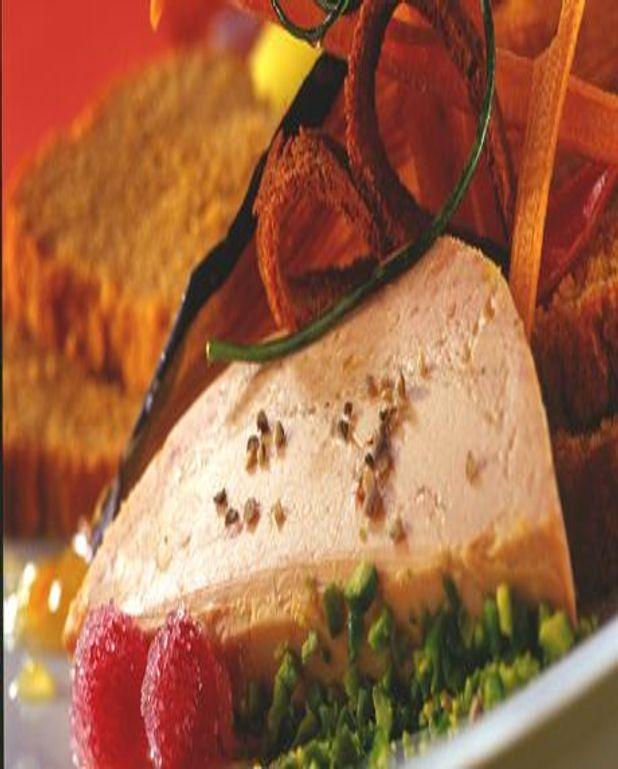 Foie Gras de Noël en croûte de pistaches