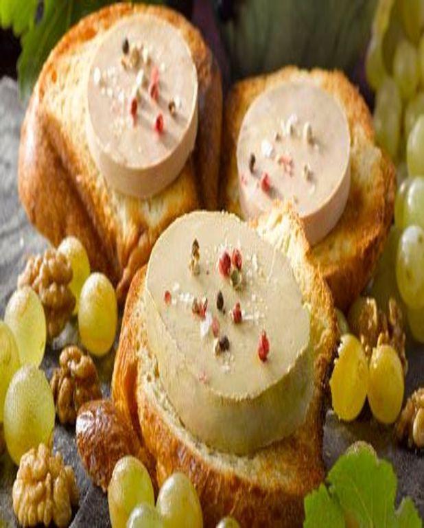 Foie Gras sur brioche toastée en tartinettes