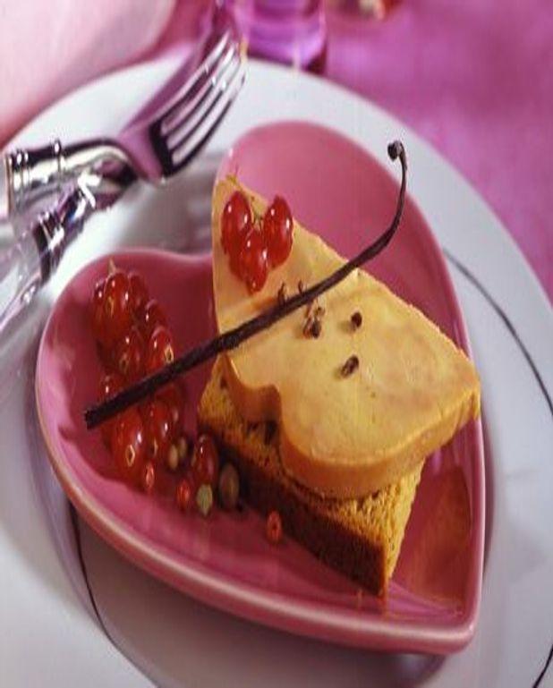 Foie gras sur canapé de pain d'épices