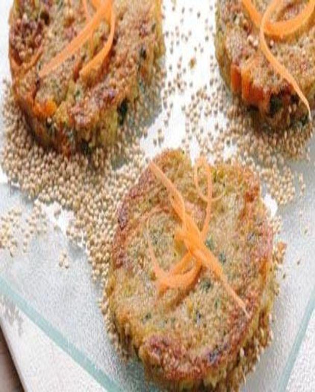 Galettes de quinoa aux carottes et aux poireaux
