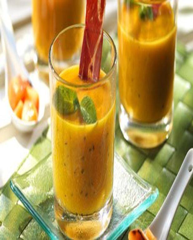 Gaspacho de melon grillé