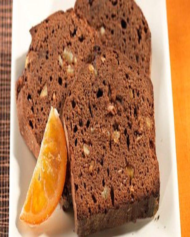 Gâteau au chocolat et aux écorces d'oranges