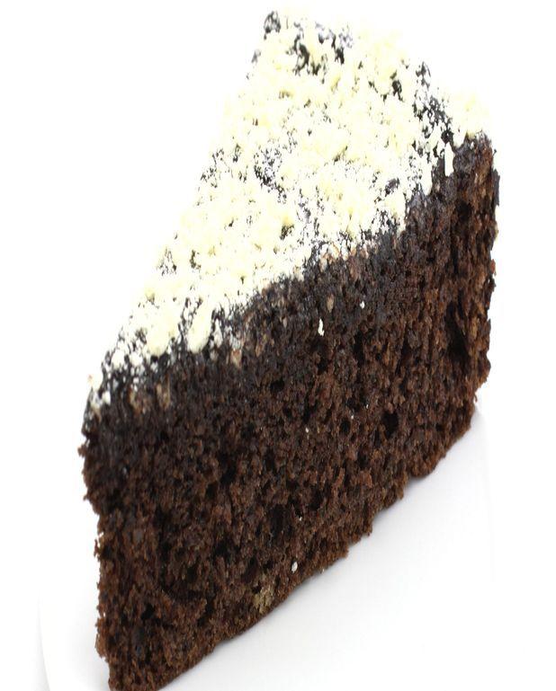 Gâteau au chocolat et sucre glace