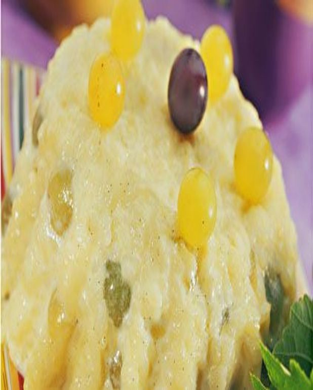 Gâteau de riz aux raisins