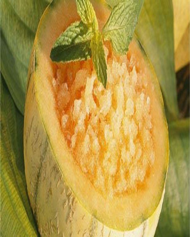 Granité de melon anisé