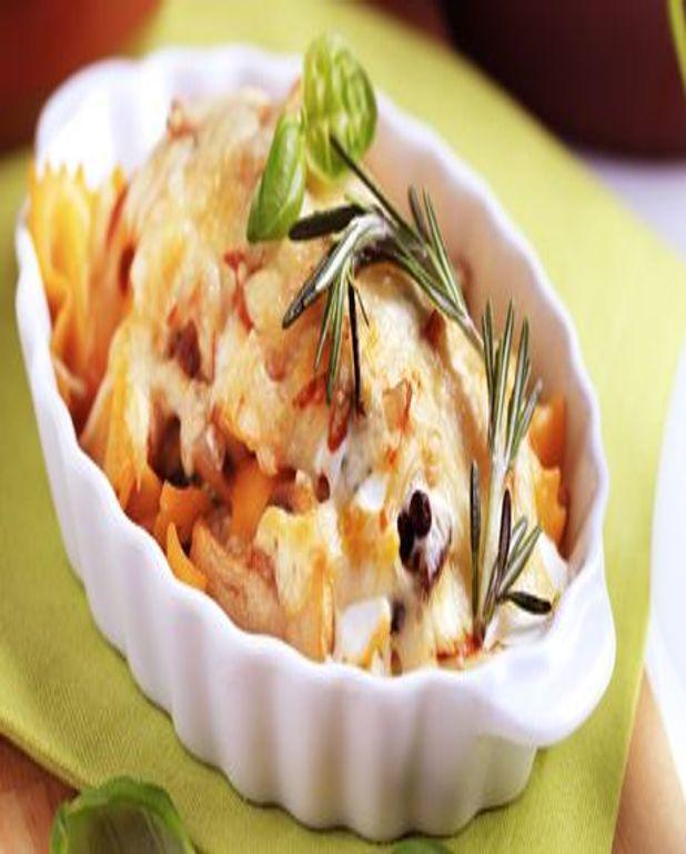 Gratin de pommes de terre et poireaux au thym