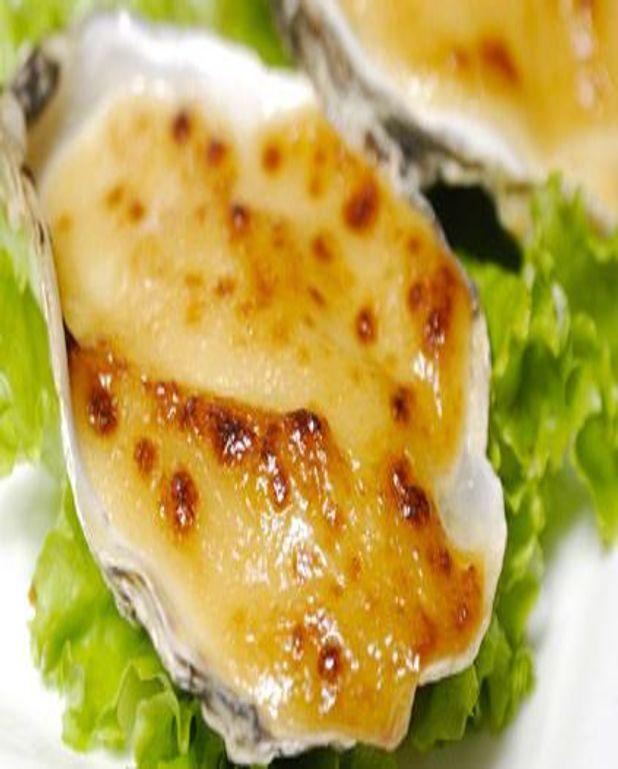 Huîtres gratinées et fondue d'endives