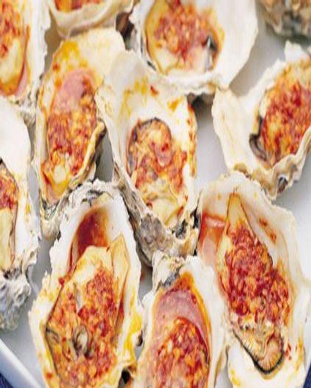 Huîtres grillées sauce beurre