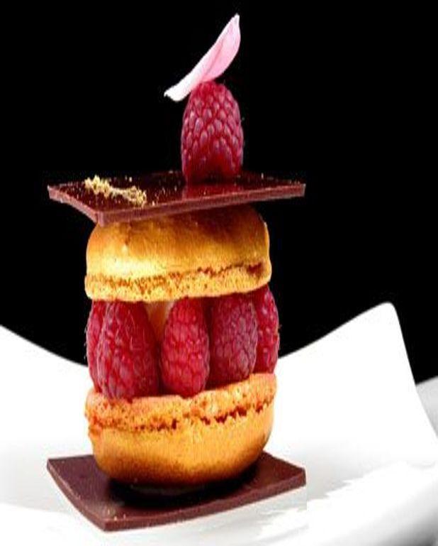 Macaron framboises litchis