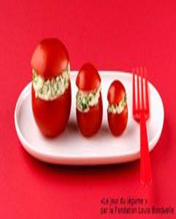 Minis tomates farcies au fromage frais