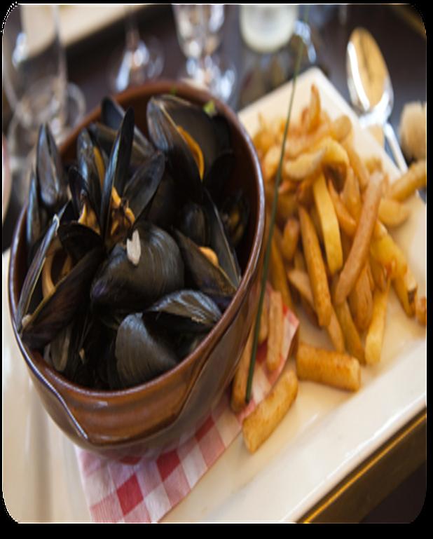 Moules marinières au piment et à l'huile d'olive