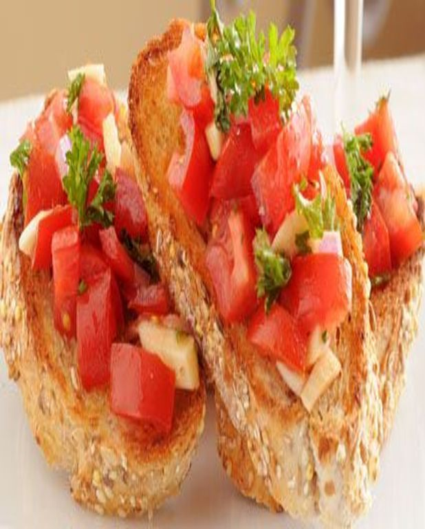 Pain à la tomate, tartines et crostinis