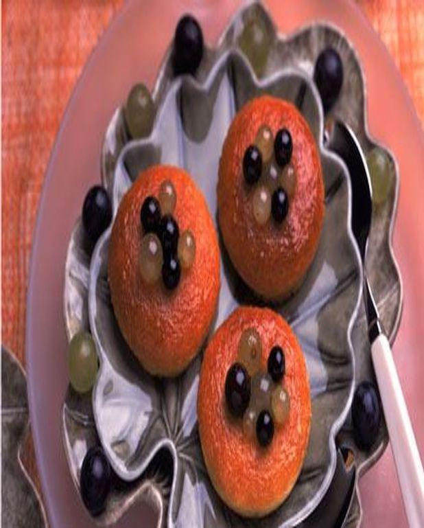 Petits babas aux raisins