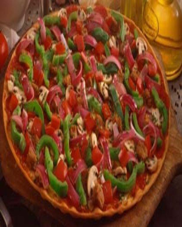 Pizza aux deux poivrons
