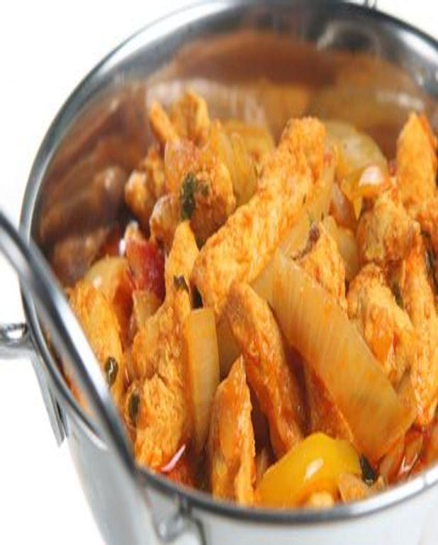 Poulet curry et oignons