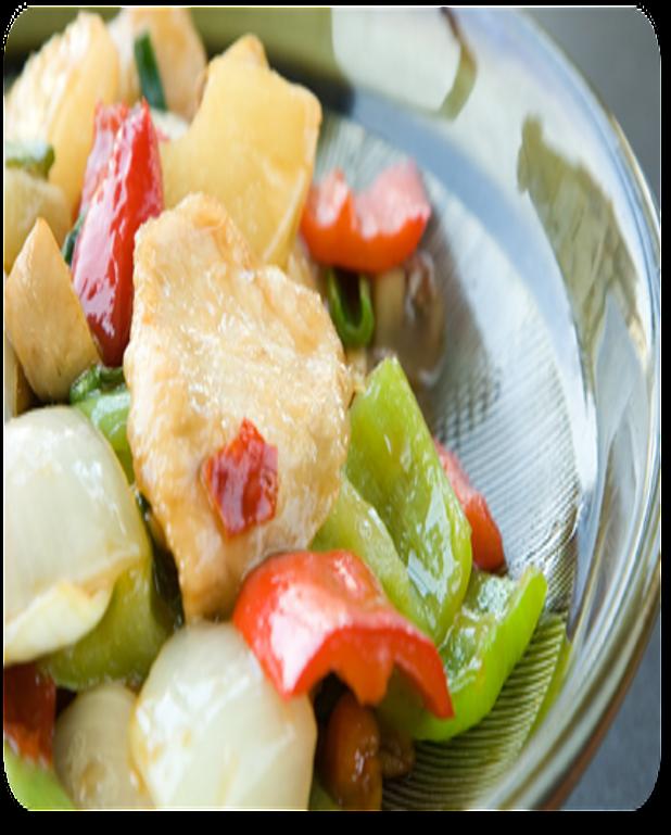 Poulet et légumes sautés