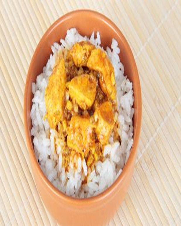 Poulet sec au curry