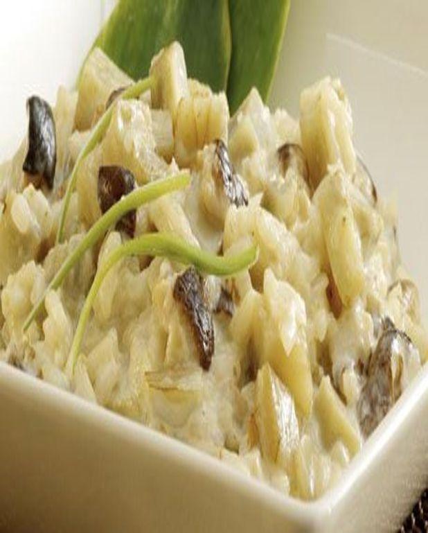 Risotto d'artichauts aux champignons lentins