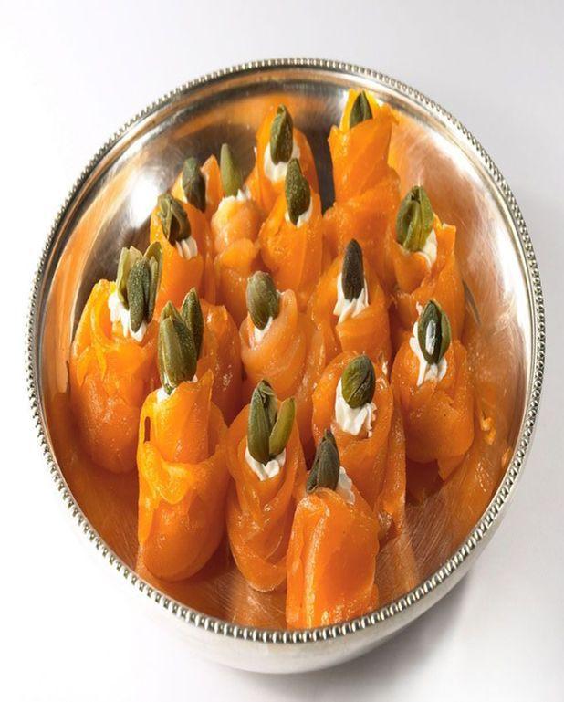 Rouleau de saumon au fromage