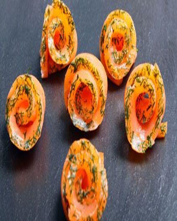 Roulés de saumon fumé à l'aneth