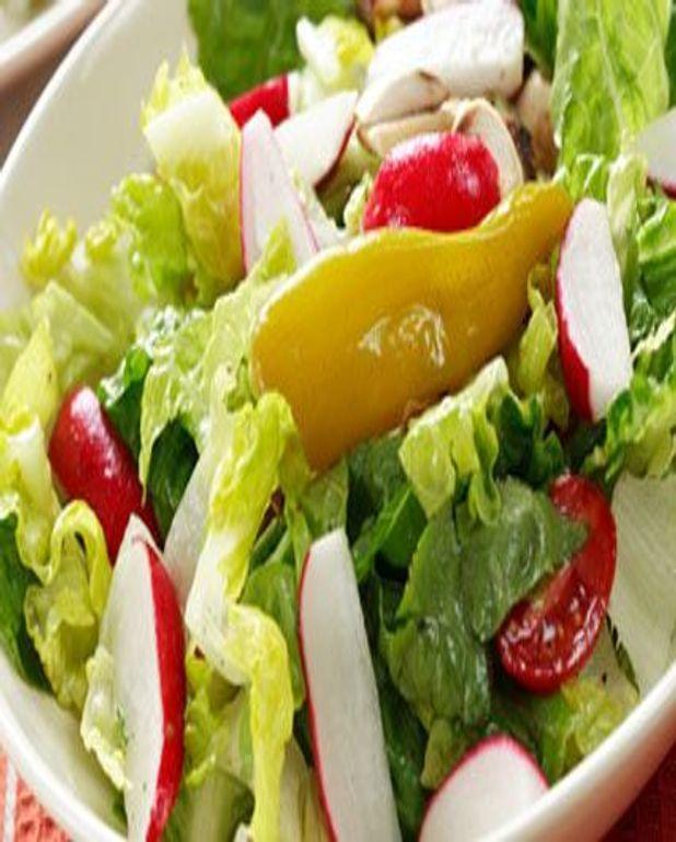 Salade aux radis et poivron jaune