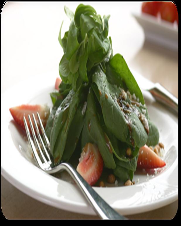 Salade de mâche au kiwi et aux fraises