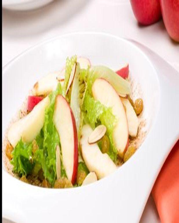 Salade de pommes aux cèpes et châtaignes