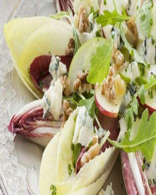 Salade de pommes, noix et mimolette