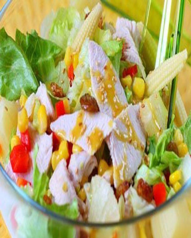 Salade de poulet aux légumes