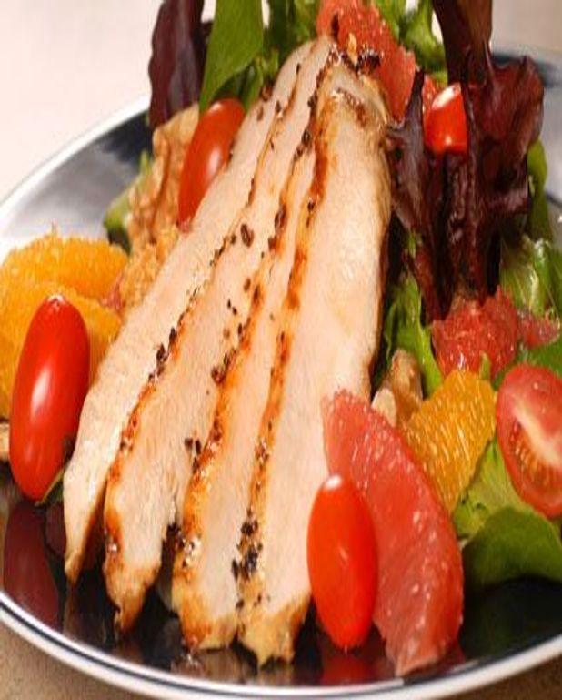 Salade de poulet miel agrumes