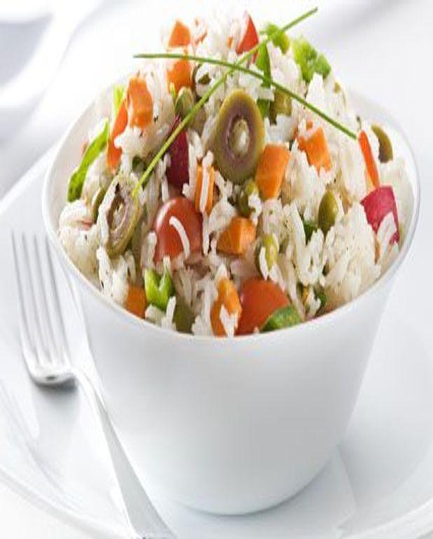 Salade de riz colorée