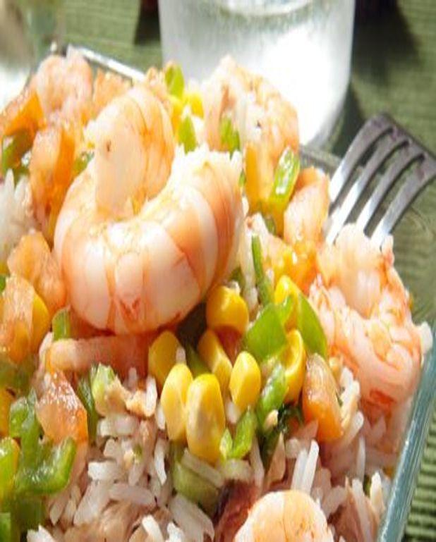 Salade de riz et crevettes