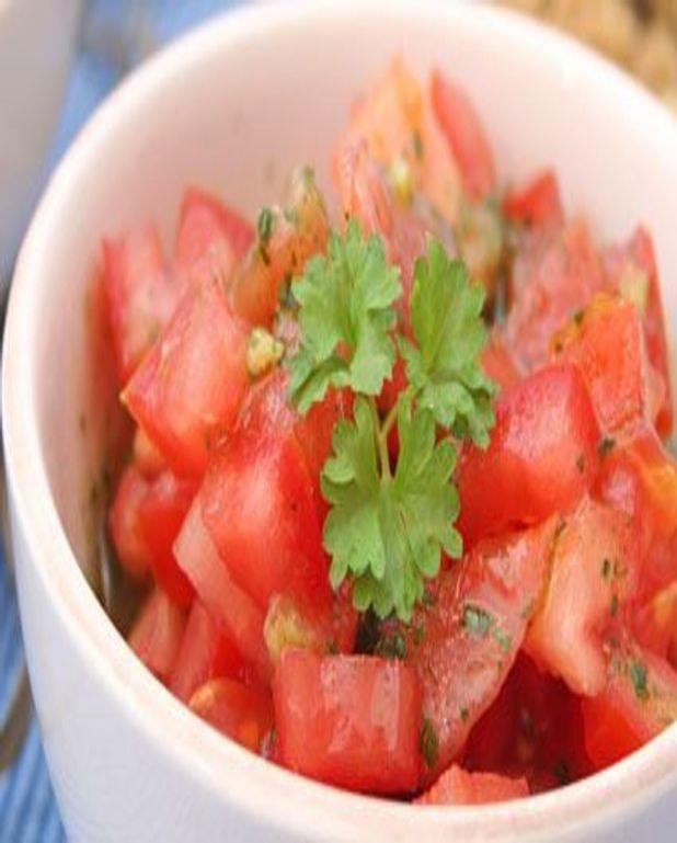 Salade de tomates aux trois poivres